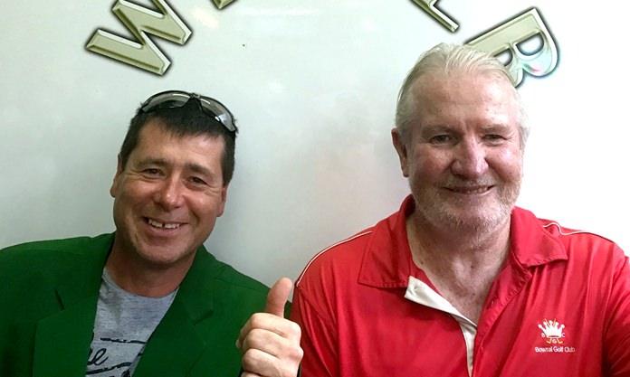 Selwyn Yates (left) with Greg Perfrement.