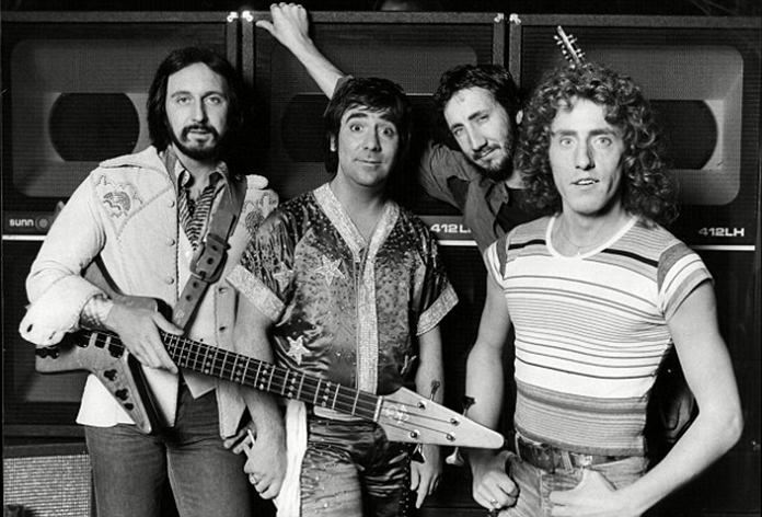 The Who (from left) John Entwistle, Keith Moon, Pete Townshend and Roger Daltrey.