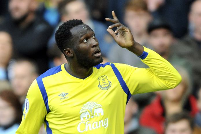 Belgian striker Romelu Lukaku has joined Manchester United from Everton for a fee of approximately 75 million pounds. (AP Photo/Rui Vieira)