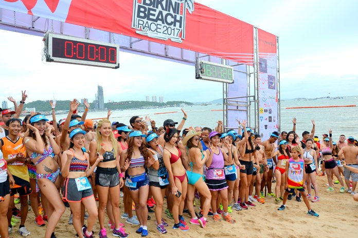 The majority of runners donned their best swimwear for the event.