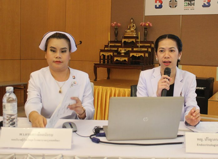 Nurses Ornapa Leuatnakrob and endocrinologist Dr. Preeyaporn Vitheesamrantham talk about patient diet, exercise, and ways for patients to boost their immune systems.