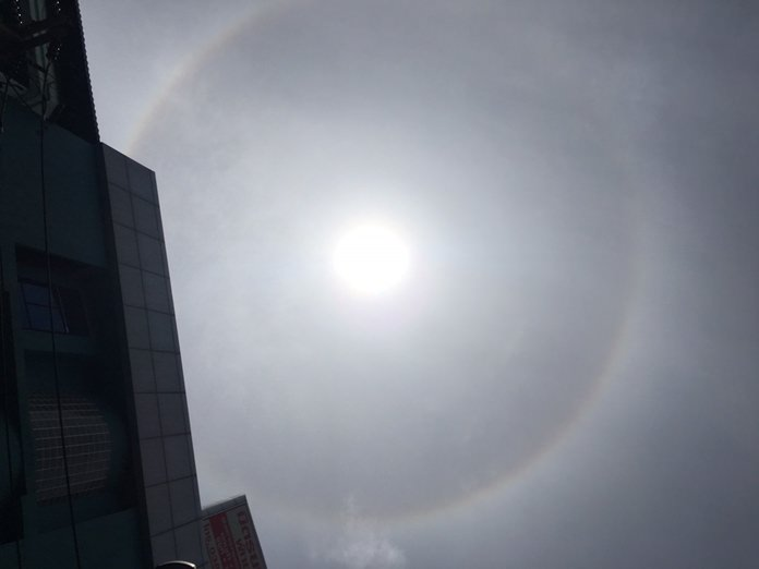 "A rare ""sun halo"" had Pattaya looking skyward, with gamblers, as usual, taking it as a lottery omen."