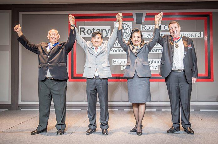 PP Rodney James Charman, DG Eknarong Kongpan, DGE Onanong Sirpornmanut and President Brian John Songhurst.