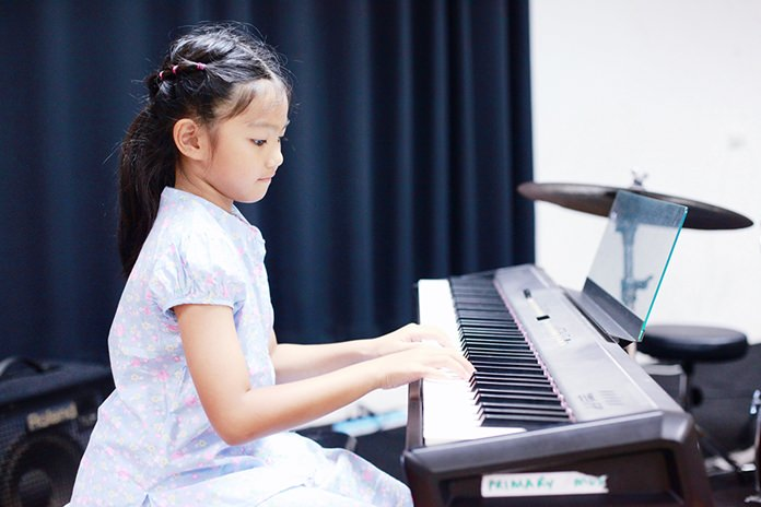 Some intricate piano work at the recital.