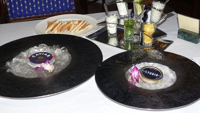 Treat yourself to caviar.