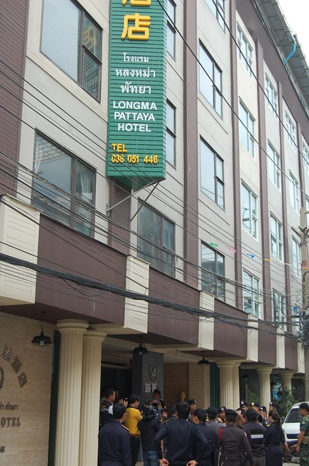 Special Branch police shut down the Longma Pattaya Hotel allegedly owned by an illegal Chinese immigrant as part of an operation to seize 43 of his properties around the country.