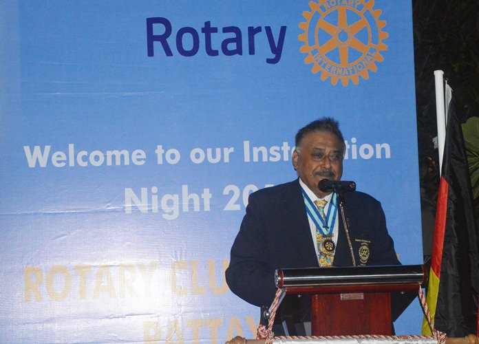 PDG Peter Malhotra speaks lovingly of HM the late King Rama IX and Rotary's Lake of Love project in his honour.