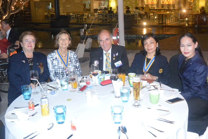 Rotarians from other clubs attended the festivities.