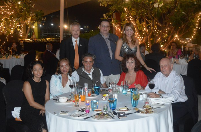 Members of the Rotary Club Phoenix Pattaya and guests gather for a group photo.