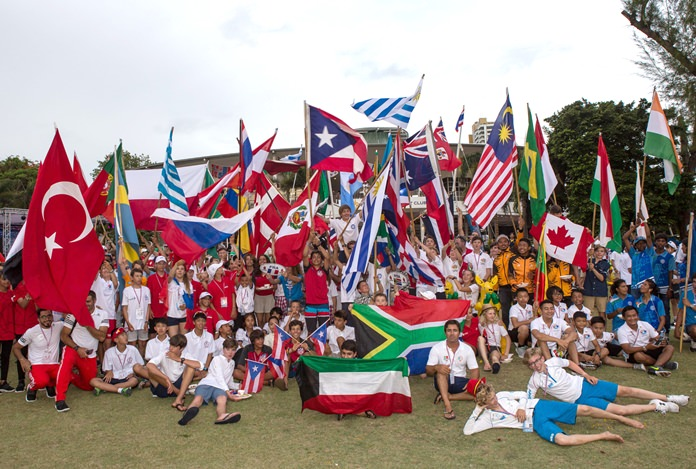 The Optimist World Championship in Pattaya was a truly international event, attracting 281 young sailors from 62 countries.