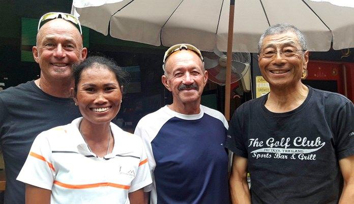 Capt. Phil with J.P. Thomas, Bob Catlow and Masao Ishikawa.