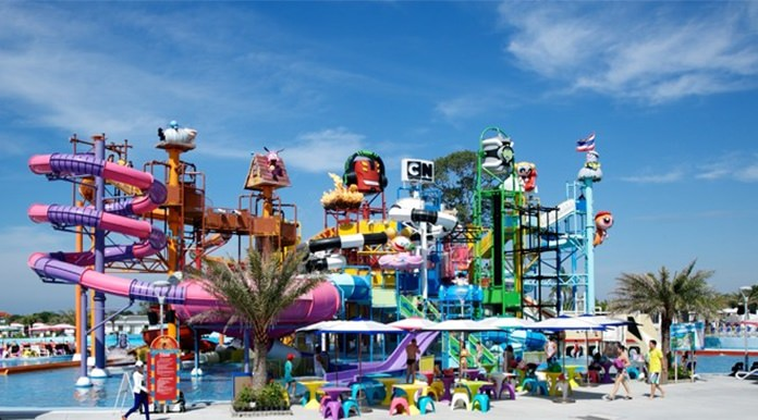 Cartoon Network Amazone water park, near Pattaya, Chon Buri.