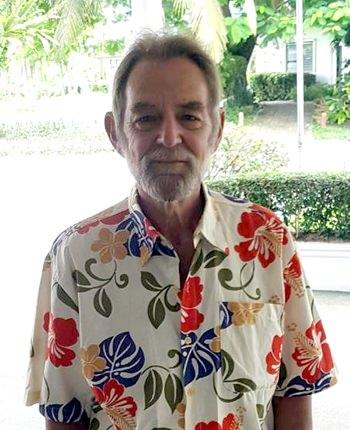 Raleigh Gosney in his latest Hawaiian shirt.