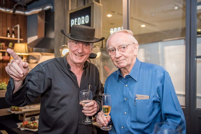 Dr Iain Corness and Dr Colin Kirkpatrick, two most respected wine connoisseurs.