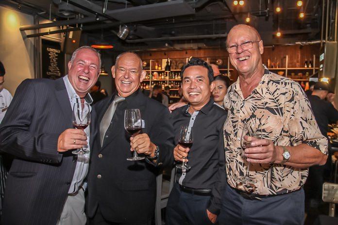 Mike Wilkinson, Rodney Charman, Amarin Jadsanam and Michael Todd-White enjoy a laugh.