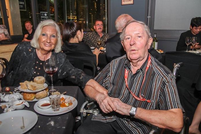 Lucia Alterio Lachcar having a fun evening with François Lecomte.