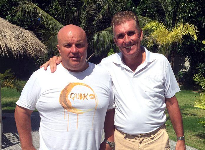 Dave Smith (left) with Neil Harvey