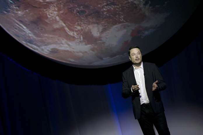 """SpaceX founder Elon Musk said the first launch of its big new rocket, the Falcon Heavy, is risky and stands """"a real good chance"""" of failure. (AP Photo/Refugio Ruiz, File)"""