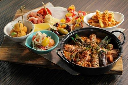 Mantis shrimp creations at Hilton Pattaya.