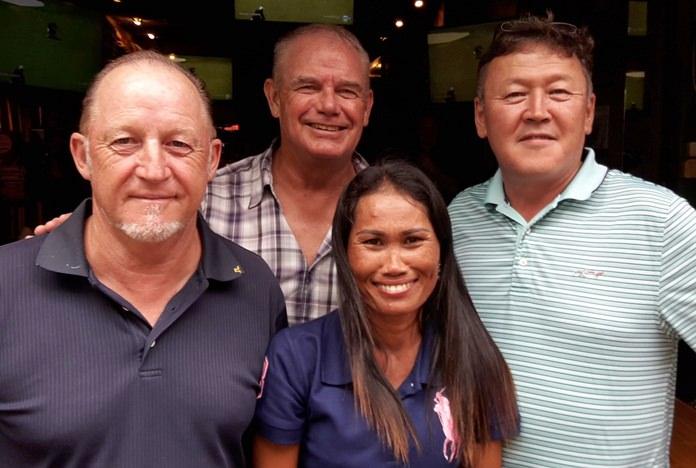 Gary Smedley (from left) with Fred Birch, Jareeporn Thomas and Ganbaatar Baasanjav.