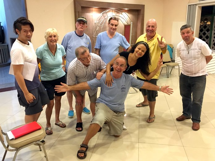 "The Pattaya Players cast for Neil Simon's play, ""Fools""."