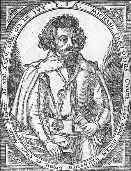 Composer and musicologist Michael Praetorius.