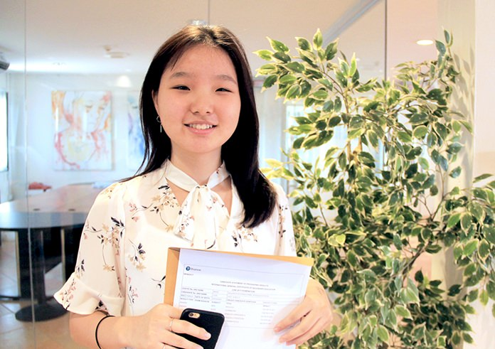 Julie earned 8 A* and 1 A.