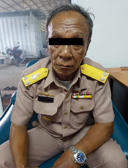 Paitoon Jaengchuen, 63, was arrested for impersonating a navy admiral and allegedly running a fake charity scam.