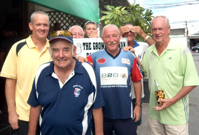 (From left) Brad Todd, Anthony Cook & Martin Todd with Mike Gosden in front.