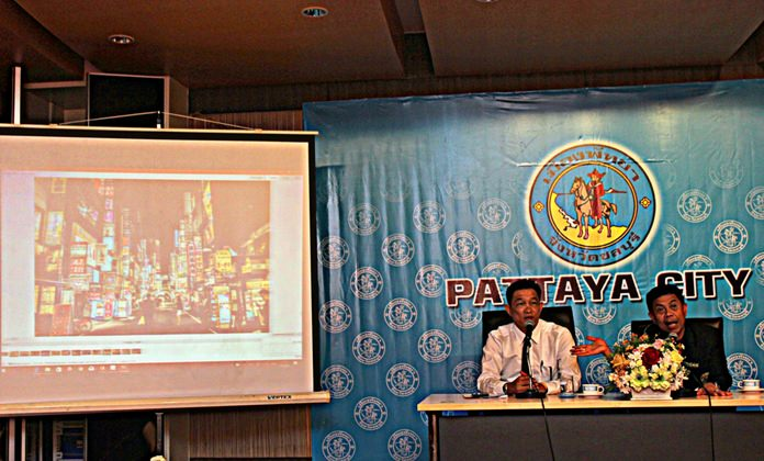 City officials and business operators met at Pattaya City Hall on August 2 to try and resolve the signage issue.