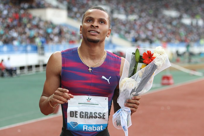 Canadian sprinter Andre De Grasse. (AP Photo/Abdeljalil Bounhar)