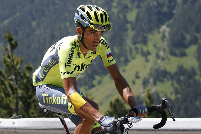 Spain's Alberto Contador announced Monday Aug. 7, that he will retire next month after riding in the Spanish Vuelta. (AP Photo/Christophe Ena)