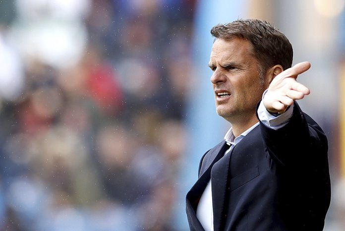 Crystal Palace manager Frank de Boer gestures on the touchline during the English Premier League match against Burnley at Turf Moor, Burnley, Sunday Sept. 10. (Martin Rickett/PA via AP)