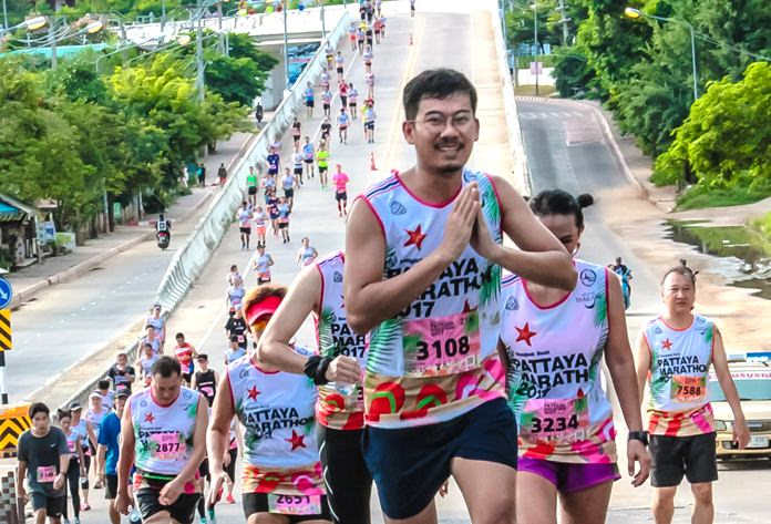 Over 10,000 runners, walkers and wheelchair athletes took part in the 2017 Pattaya Marathon.
