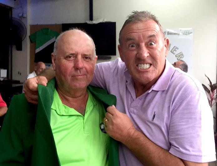 Bob Watson (left) with Phil Davies.