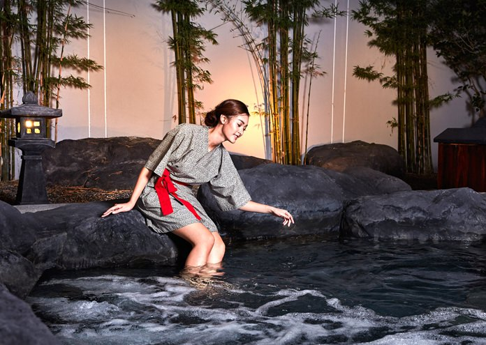 A beautifully-fitted out Japanese style onsen spa is one of the main attractions at the hotel.