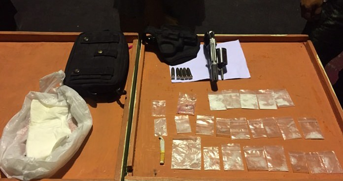 Searching the nightclub, officers found eight bags of ketamine, 14 bags of crystal methamphetamine and two Ecstasy tablets lying on the floor.