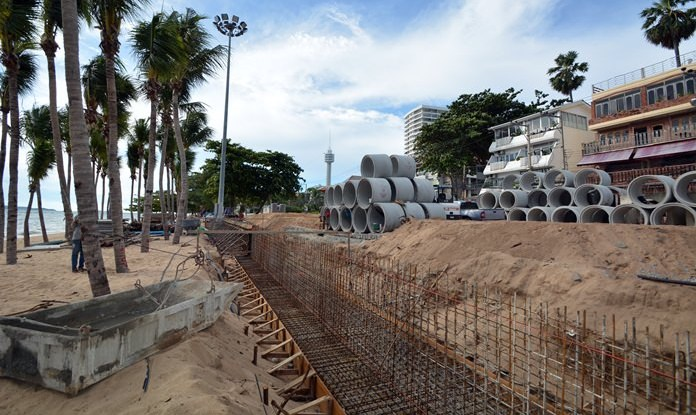 The renovation of Dongtan Beach is proceeding faster than scheduled with contractors predicting an early finish.
