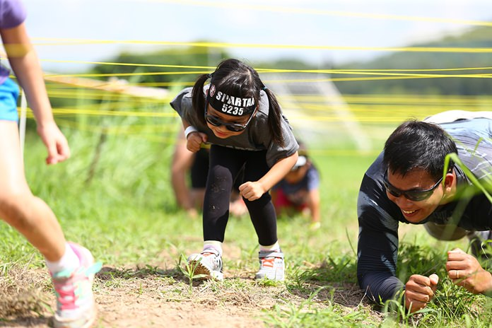 Children and adults found different ways to negotiate the obstacles.