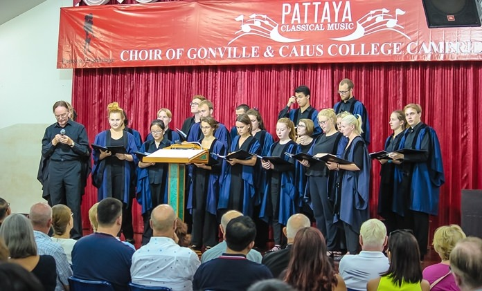 The Choir of Gonville and Caius College, Cambridge performs at Pattaya Orphanage, August 28.