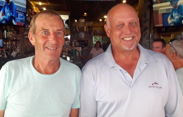 David Outhred with Jim Brackett.