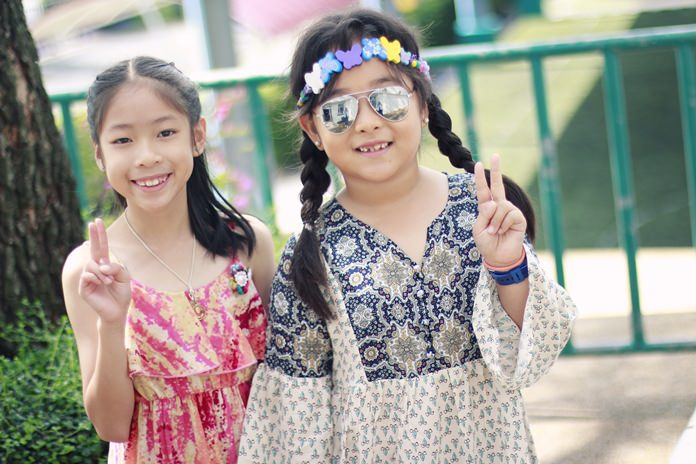 Primary students enjoyed taking part in a hippie mufti day.