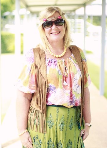 GIS Principal Mrs Hawtree gets into the hippie spirit.