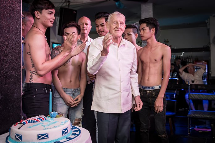The birthday boy thanks his guests for coming to help him celebrate his special day.