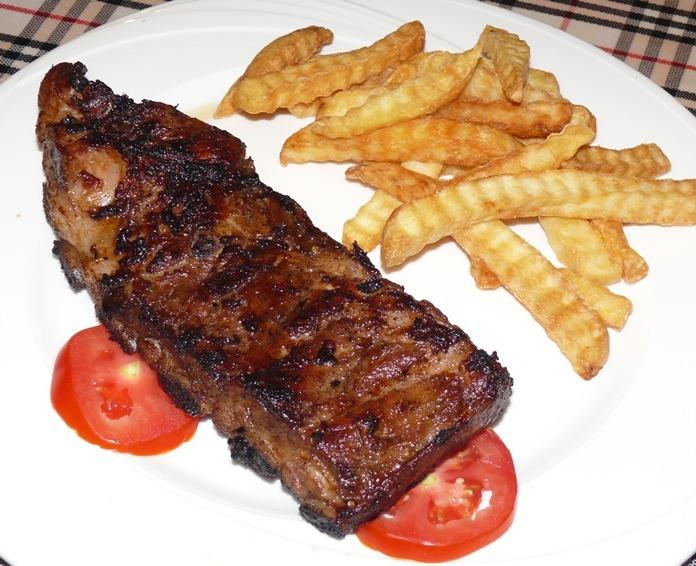 A hefty chunk of ribs.
