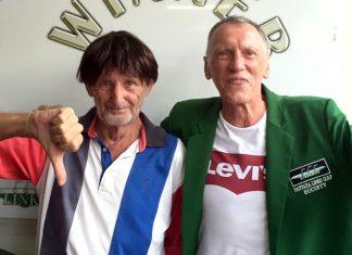 Colin Service (right) with Len Jones.