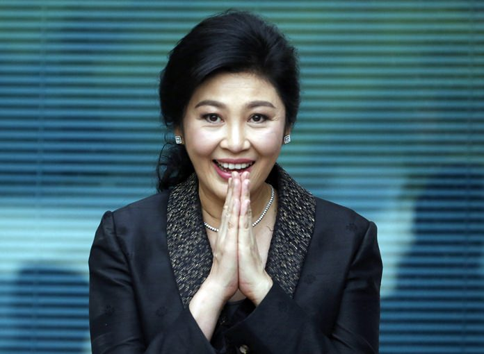 Former prime-minister Yingluck Shinawatra is shown arriving at the Supreme Court in this Aug. 1, 2017, file photo. (AP Photo/Sakchai Lalit)