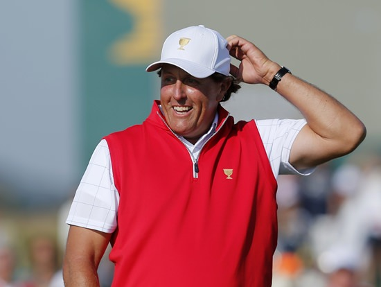 Phil Mickelson is a captain's pick to play in the Presidents Cup later this month at Liberty National. (AP Photo/Woohae Cho, File)