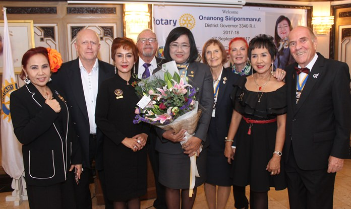 Members of the Rotary E-Club of Dolphin Pattaya International attended in large numbers.