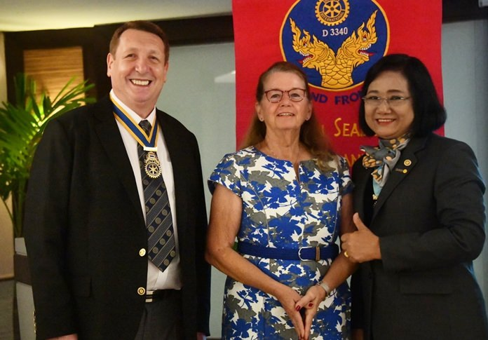Ket Abbink, Martin Cooke and Veronique Waas-Jobin are inducted as members of the Rotary Club Eastern Seaboard.